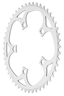5 bolt, 110mm 38t silver chainring