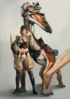 ArtStation - Pterosaur Rider, Bugeon Choi