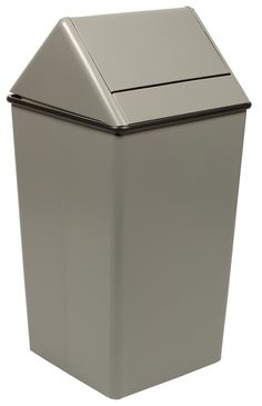36 Gallon Metal Swing Top Square Waste Receptacle 1511HT 3 Colors - outdoor & indoor trash cans, recycle bins, & ashtrays for commercial, office or home.