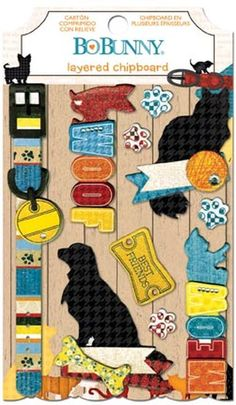 Happy Tails Layered Chipboard $4.39