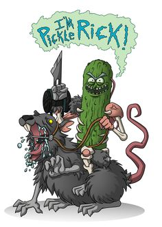 Pickle Rick, Rick and Morty Pickle Rick Tattoo, Ricks Tattoo, Rick And Morty Drawing, Rick I Morty, Rick And Morty Poster, Ricky And Morty, Miguel Angel, Nerd, Animation