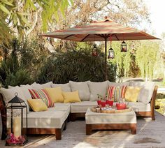 An outdoor sectional love.........