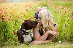 Senior Picture With dog: