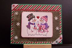 Christmas Card with K Andrew Designs Winter Wishes for the Sentiment!