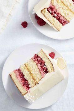 Raspberry Lemon Cakes, Raspberry Buttercream, Lemon Layer Cakes, Raspberry Recipes, Buttercream Frosting, Cupcakes, Cupcake Cakes, Dessert Crepes, Funnel Cakes
