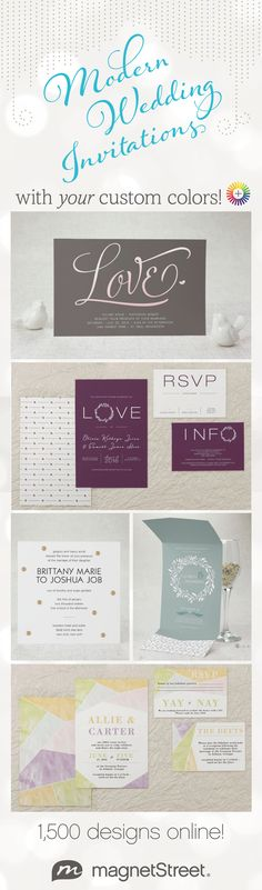 Lots of new Wedding Invitations designs to choose from! Plus you can customize style, paper, and color to your style!