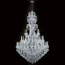 "Maria Theresa 60 Light 3 Tier 65"" Chrome Chandelier with Clear Crystals"