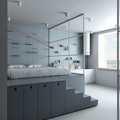 home interior Un mini loft en couleur pastel - PLANETE DECO a homes world