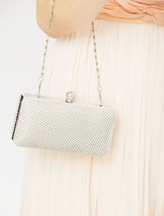 Eleanor Silver Diamante Evening Clutch Bag. Crystal Bridal   wedding clutch  bag. Silver prom 6196f69d484dc
