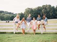 This would actually be a really fun idea for a bridal party -- for the bridesmaid and bride to do their own mini photoshoot prior to the wedding (weeks or a month or so). It would be a great way to celebrate all the friendships new and old!