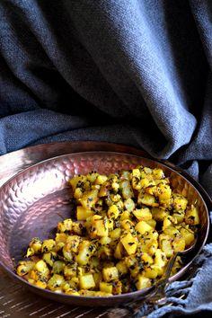 Einfache Kartoffelbockshornklee Curry / Aloo Methi%