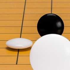 Yellow Mountain Imports Melamine Double Convex Go Game Stones Set - (Size