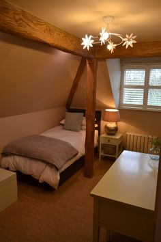 Potton Gransden show house bedroom with Hockney 4 arm pendant fitting in a white finish. Led Light Fittings, Home Bedroom, Led Lamp, Indoor Outdoor, Arms, Bulb, Lights, Pendant, House