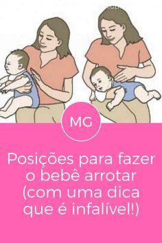 Fazer bebe arrotar | Posições para fazer o bebê arrotar | A dica 4 é infalível!!!