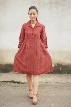 Vintage Dress/ 1980s Dress/ Vintage Japanese Dress/ Vintage Womens Dress/ Summer Dress/ Rockabilly Dress/ Womens Dress/ Clover Dress by hisandhervintage on Etsy