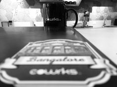 When in doubt grab some coffee! #loveforcoffee #coffee #coffeemug #decals #stickers #coworkingspaces #beautifuloffices