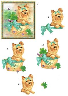 Photo by Katie Finn Free Cards, 3d Cards, Christmas Sheets, Art Deco Cards, 3d Dog, Decoupage Printables, 3d Sheets, Image 3d, Printable Pictures