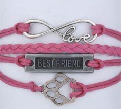 Dog (or Cat) Love Infinity Bracelet