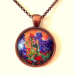 Texas Jewelry Bluebonnet Indian Paintbrush by GardenGemsJewelry, $14.95