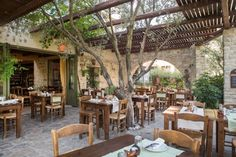 Eleonas Country Village complex in Zaros Crete offers traditional accommodation in perfect harmony with the natural environment. What A Wonderful World, Crete, Wonders Of The World, Tourism, Pergola, Environment, Outdoor Structures, Patio, Outdoor Decor