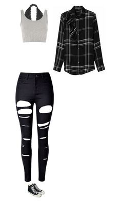 """Untitled #221"" by gwboobear on Polyvore featuring Youmita, Topshop, WithChic and Converse"