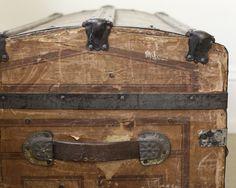 Rustic antique trunk.  Goodwill score!  Smile Mercantile