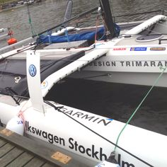 Boat ready for racing in Stockholm, Sweden