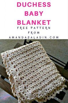 Free Crochet Duchess Baby Blanket Pattern