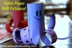 Make a Toilet Paper Roll Octopus | 25 Toilet Paper Roll Crafts