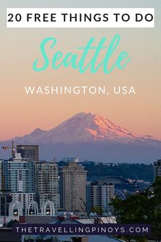 Free things to do in Seattle, Washington. Your guide to free things to do and must see interesting and fun places in Seattle, Washington. Washington Things To Do, Things To Do Seattle, Free Things To Do, Seattle Washington, Washington State, Seattle Travel Guide, Usa Travel Guide, Travel Usa, Travel Tips