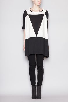UZI Triangle Dress (Black/White)