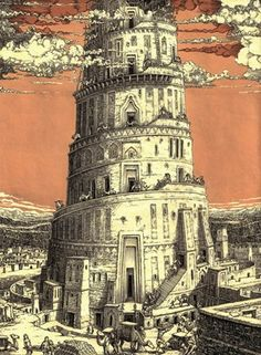 Tower of Babylon Illustration by Tomislav Tomic