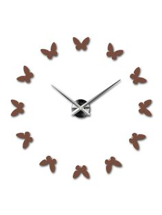 Wall Mounting Wall Clock - AGATHE Reference:  12S001-RAL8002-S-COLOR** Condition:  New product  Availability:  In Stock  Choose a color by yourself! The time has come much more cozy realít new clock. 3D large wall clock is a beautiful decoration of your interior. You'll never be late.