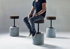 Cork Furniture - A New Design Niche That Rises To The TopYou can find Concrete furniture and more on our website.Cork Furniture - A New Design Niche That Rises To The Top Beton Design, Cement Design, Cement Art, Concrete Crafts, Concrete Projects, Concrete Bar, Concrete Stool, Concrete Furniture, Furniture Design