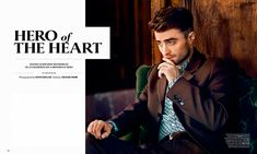 Daniel Radcliffe lensed by Kevin Sinclair and styled by Michael Fisher, for the August/September 2014 coverstory of Essential Homme magazine.
