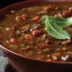 Persian Lentil Soup Recipe Soups with olive oil, onions, medium carrot, celery ribs, red lentils, beluga lentil, turmeric, paprika, chopped parsley, dill, mint, lime, sumac, chopped tomatoes, salt, black pepper