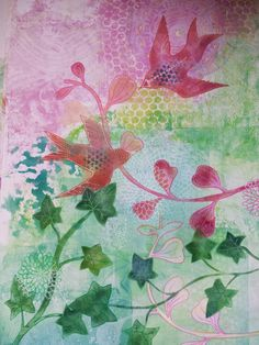 Art by Lucy Brydon : Large Gelli prints using a small Gelli plate