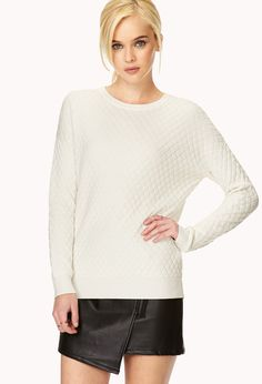 Quilted Knit Sweater | FOREVER21 - 2000070341
