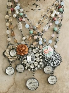Soldered charms ~ I adore these ! find chains: http://www.ecrafty.com/c-65-necklaces-cords-chains.aspx