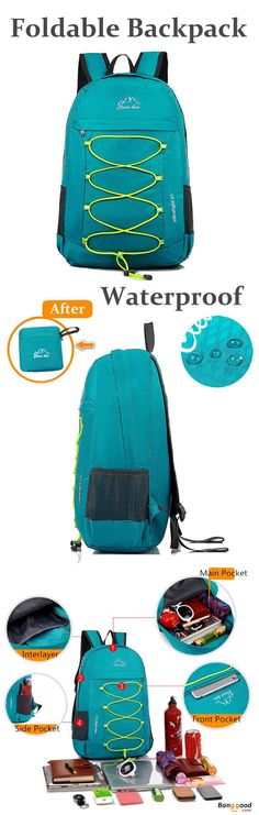 US$18.99+Free shipping. Foldable Backpack, Running Bags, Hiking Bags. Lightweight, Waterproof, Outdoor, Sports. Color: Black, Green, Blue, Purple.