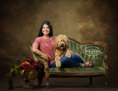 Senior Photographer, Senior girl with her dog, Goldendoodle, senior pictures,  Cindy Shaver Photography, Huntsville, AL
