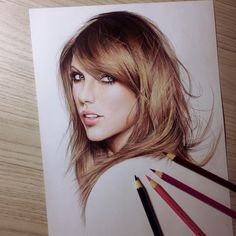 Taylor Swift Pencil Drawing #taylorswift #fabercastell #drawing #art http://sharperthepoint.com
