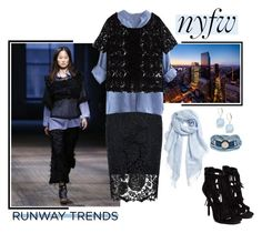 """""""NYFW:  Hot Runway Trends"""" by constance1964 ❤ liked on Polyvore featuring moda, Anne Klein, Halogen, Rodebjer, Quiz, Zara, Platadepalo y nyfwrunwaytrends"""