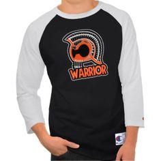 Warriors Orange and Black Men's Shirt
