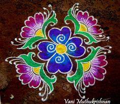 Kolam Designs - Pooja Room and Rangoli Designs Kolam Design for Pongal Simple Rangoli Designs Images, Rangoli Designs Latest, Rangoli Designs Flower, Rangoli Patterns, Colorful Rangoli Designs, Rangoli Ideas, Rangoli Designs Diwali, Kolam Rangoli, Flower Rangoli