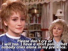 The Dolly Parton Scrapbook Steel Magnolias Quotes, Steel Magnolias 1989, Famous Movie Quotes, Tv Show Quotes, Film Quotes, Love Movie, Movie Tv, Rainy Day Movies, Magnolia Movie