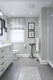 Image result for bathroom with grey cabinets and slate tile