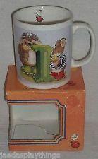 "Gordon Fraser Mug Cup Country Companions Hedgehog Ladybug ""I"" + Box FREE US Ship"
