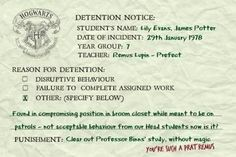 I don't know if a prefect can give the Head Boy and Girl detention, but this is great.
