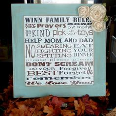Printable 'Family Rules'
